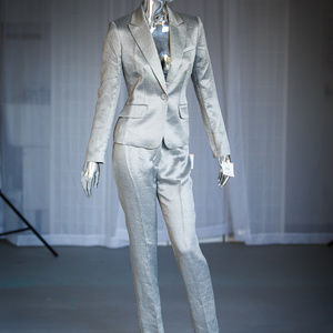 NWT Anne Klein Silver pant suit